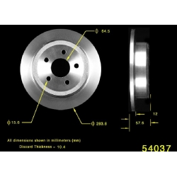 TARCZA HAMULCOWA TYLNA PRT5053 BENDIX PREMIUM (Ford Windstar 1995-2003)