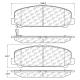 KLOCKI HAMULCOWE PRZÓD D1509 CENTRIC PREMIUM METALLIC (INFINITI QX56, QX80, NISSAN Armada, Titan)
