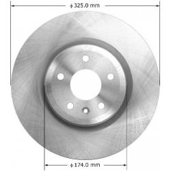 TARCZA HAMULCOWA PRZEDNIA PRT6124 BENDIX PREMIUM (FORD Explorer, Flex, Taurus, MKS)