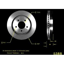 TARCZA HAMULCOWA PRZÓD 121.63048 / PRT5263 CENTRIC PARTS (CHRYSLER 300M, Concorde, LHS, DODGE Intrepid)
