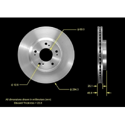 TARCZA HAMULCOWA PRZEDNIA PRT5526 BENDIX PREMIUM (Mitsubishi Eclipse, Galant)